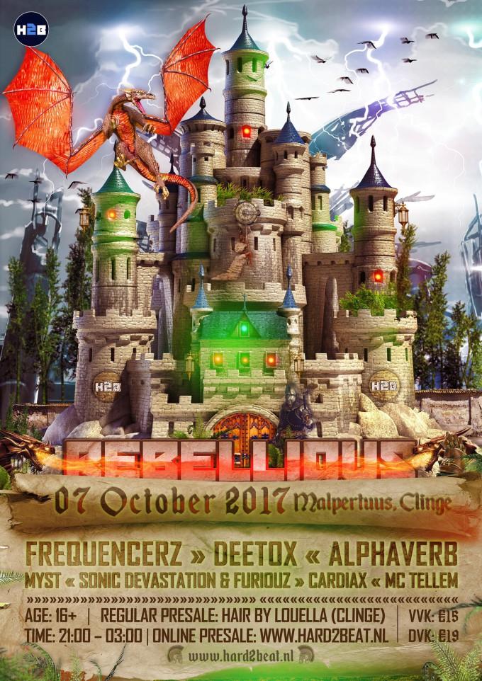 Rebellious #11 poster (incl. artiesten) (klein formaat)