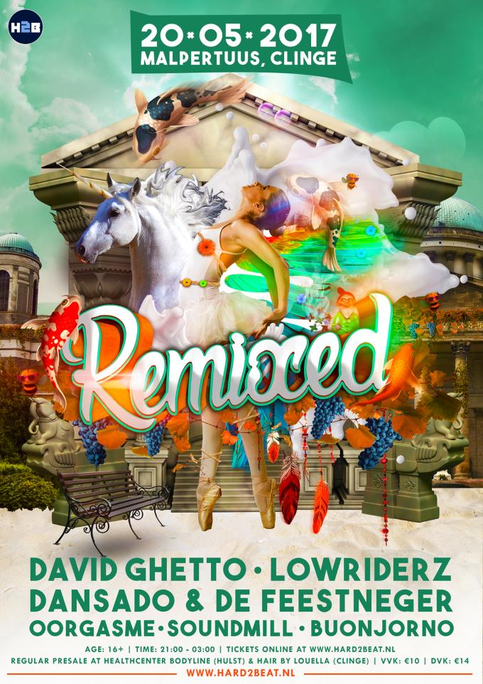 Remixed #2 poster (incl. artiesten)